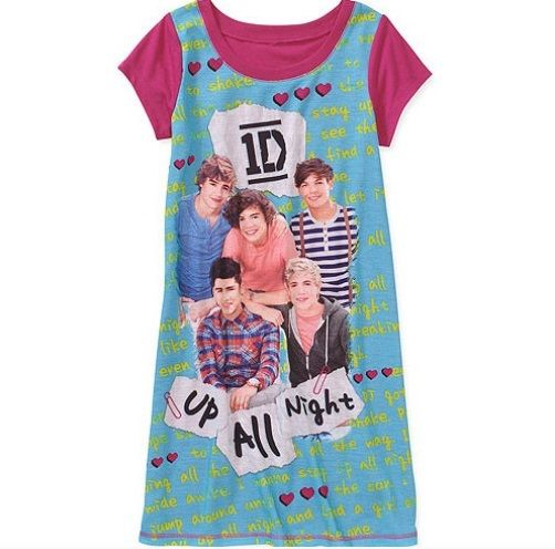 ONE DIRECTION 1D Hooded Pink Nightgown PAJAMAS 10 NeW Pjs Harry ...