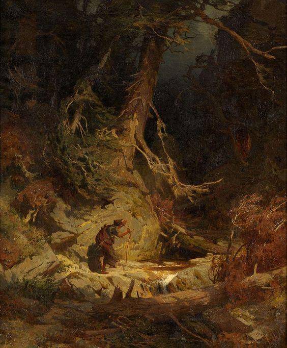 Ludwig, Carl Julius 1839 Römhild bei Hildburghausen - 1901 Berlin Die Kräutersammlerin. Signiert — Gemälde