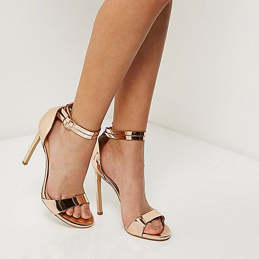 need these rose gold heels in my life