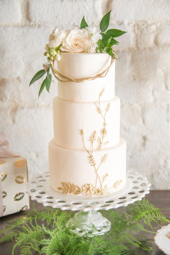 Have You Considered A Buttercream Ivory Wedding Color Palette Gold Cake Topper Wedding Wedding Cake Cost Modern Wedding Cake