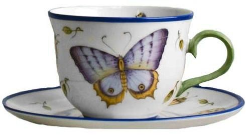 Butterfly Blue Tea Cup and Saucer by Anna Weatherley The Butterfly Blue Tea Cup…