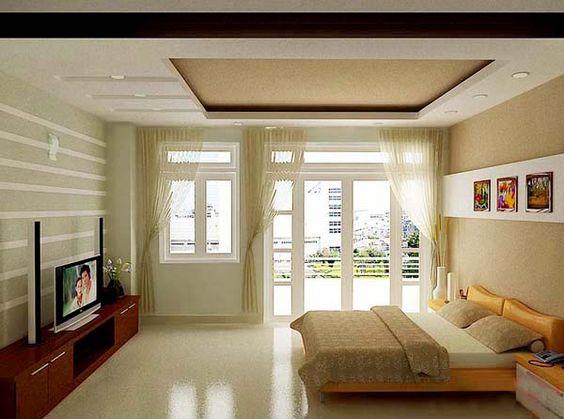 Trần thạch cao phòng ngủ đẹp 04