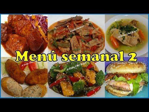 menu para la semana saludable y economico mexicano