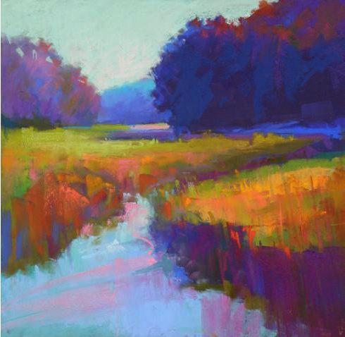 Ed Chesnovitch Landscape Paintings Oil Pastel Landscape Pastel Artwork Oil Pastel Art