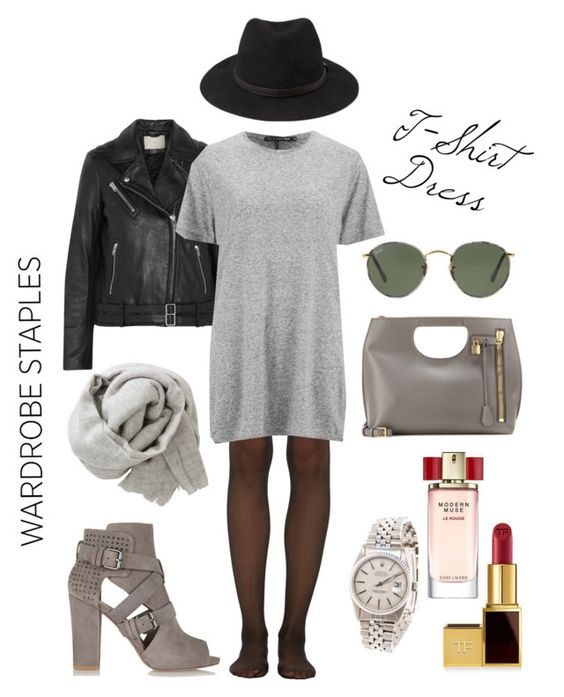 """WARDROBE STABLES: T-Shirt Dress (RAG & BONE)"" by sarakatala ❤ liked on Polyvore"