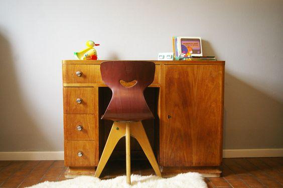 Petit bureau de style ann es 30 40 petit vintage brussels pinterest bur - Petit bureau vintage ...