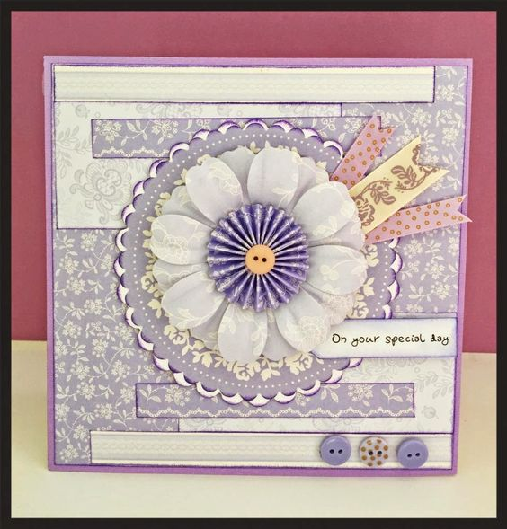 Beautiful lilac card from the French Lavender docrafts Papermania Collection! Available to buy at Create and Craft - http://www.createandcraft.tv/SearchGridView.aspx?fh_location=//CreateAndCraft/en_GB/$s=french%20lavender&gs=french%20lavender