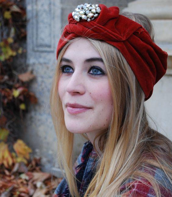 Handmade headband from www.bluemadone.com #vintage #headband #handmade #bohemian