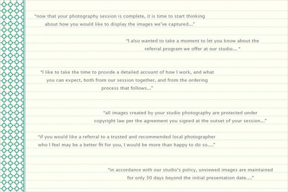 Portrait Studio Client Consult Form Portraits, Studio and - business referral agreement