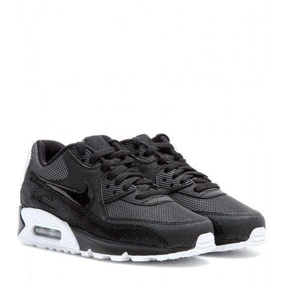 Nike Nike Air Max 90 Premium Sneakers (£69) ❤ liked on Polyvore