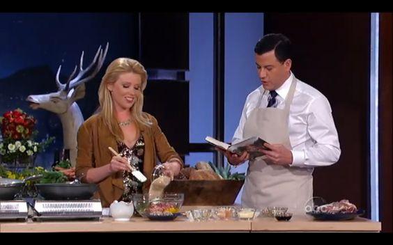 "Wild boar meatballs on Jimmy Kimmel from the book ""Girl Hunter"""