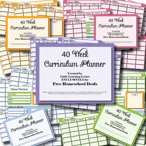 Free 40 Week Homeschool Curriculum Planner - Subscriber Freebie