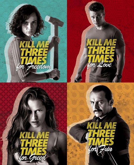 #KillMeThreeTimes character posters #SimonPegg #AustralianFilm #AliceBraga #TeresaPalmer #LukeHemsworth