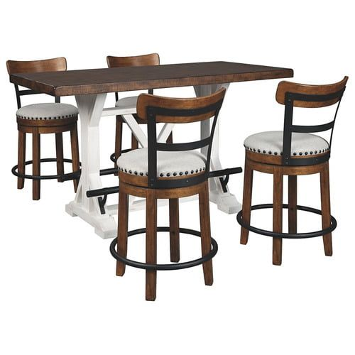 Pkg002023 In By Ashley Furniture In Portsmouth Nh Counter Height Dining Table And 4 Barstools In 2020 Counter Height Dining Table Counter Height Dining Room Tables Rustic Dining Room