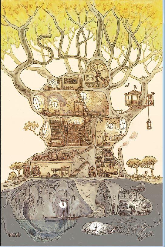 Brandon Graham @royalboiler Marian Churchland's ISLAND #12 cover. (I love this cover):