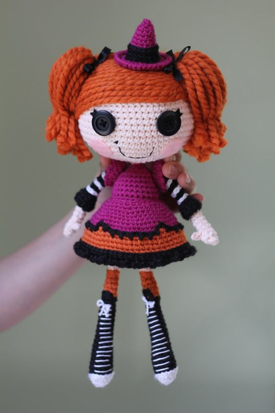 Sock Monkey Amigurumi Pattern : PATTERN: Candy Crochet Amigurumi Doll Custom dolls ...