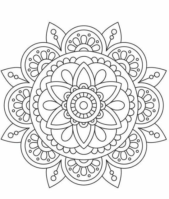 Mandalas Para Colorear Con Imagenes Mandalas Para Colorear