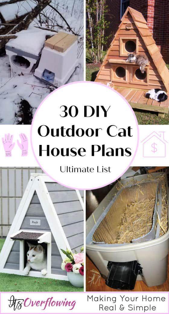 30 Best Diy Outdoor Cat House Plans Outdoor Cat House Outdoor Cat House Diy Cat House Plans