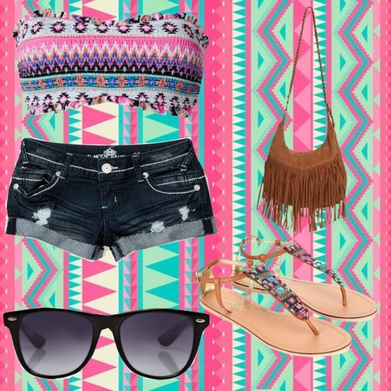 """Aztec Summer"" by lois-i ❤ liked on Polyvore"