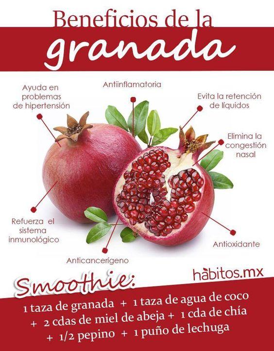 Beneficios de la Granada: