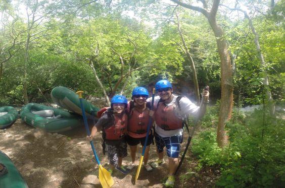 Family ready for rafting Tenorio River Guancaste, Costa Rica