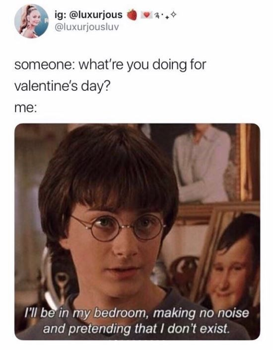 This Is For All The Singles Who Can T Wait For Valentine S Day To Be Over Single Foreveralone Valent Funny Pictures Valentines Day Memes Funny Single Memes