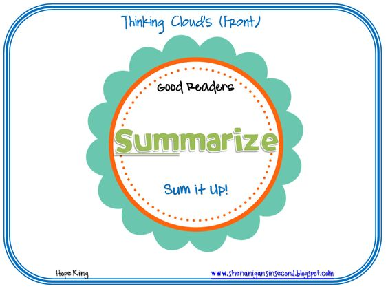 Think clouds to for reading response