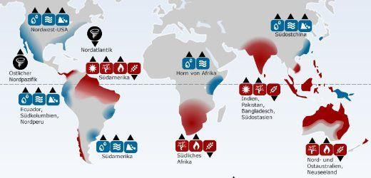 Weltweite Auswirkungen von El Niño
