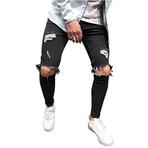 Pantalon Fantaisiez Pantalons Extensibles Skinny Pour Hommes