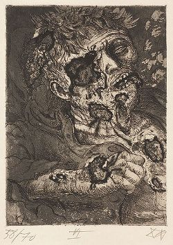 Dying soldier Sterbender Soldat Otto Dix