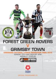 Forest Green Rovers v Grimsby Town