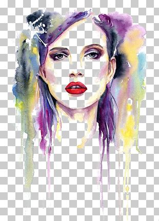 Watercolor Painting Deviantart Fine Art Girl Makeup Woman Face Painting Png Clipart Face Illustration Clip Art Fine Art Painting