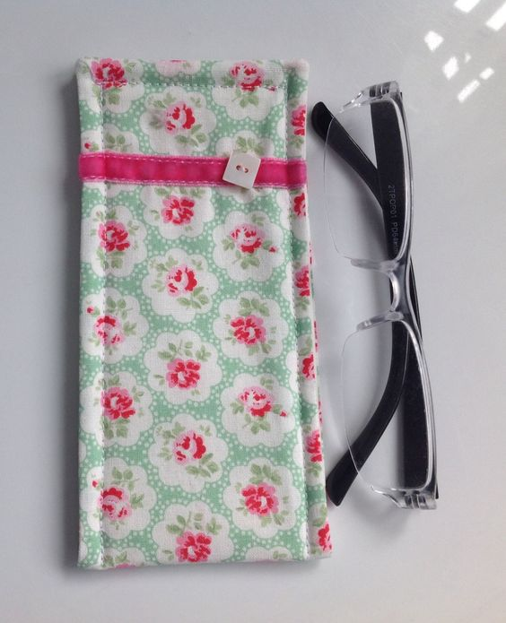 Cath Kidston Green Provence Fabric Glasses Case by sewmoira on Etsy