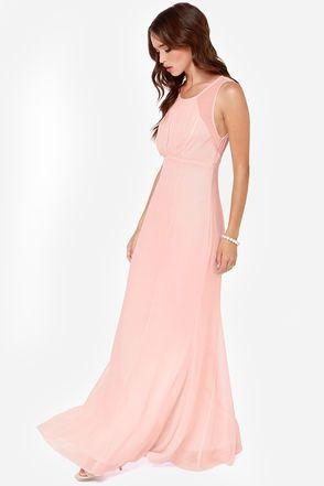 Exclusive Let&-39-s Dance Light Pink Maxi Dress - Beautiful- Pink ...
