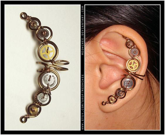 Steampunk Ear Cuff: