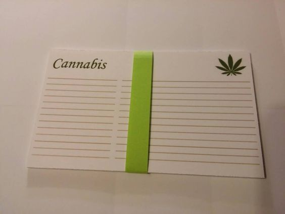 Cannabis Recipe Cards (10)pk by BettyChronics on Etsy
