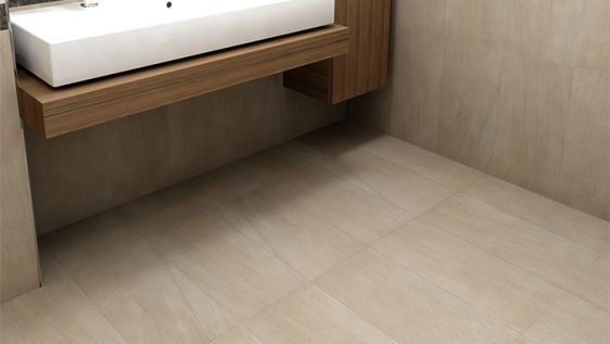 These glazed porcelain tiles from our Jupiter series have a soft and wispy stone look that are amazing floor to ceiling. | Type of tile: Glazed Porcelain | Series: Jupiter | Colour: Natural | Finish: Matte