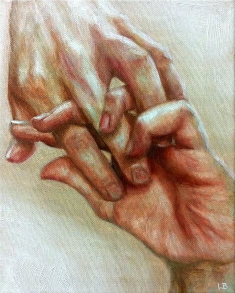 oil paintings hand in hand and etsy on pinterest