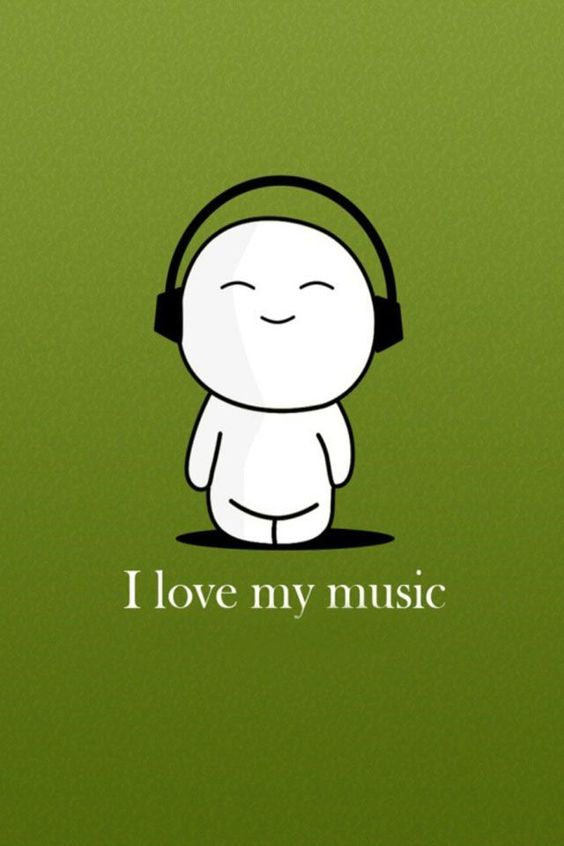 Ah, how cute. I love music too.: