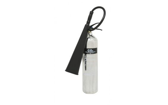 5 kg Polished CO2 extinguisher | Stainless Steel Fire Extinguishers