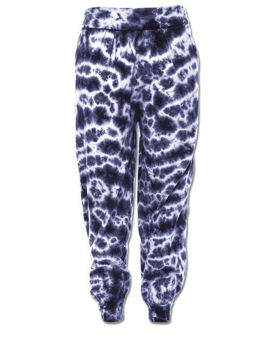 Electric Tie-Dye Organic Harem Pants