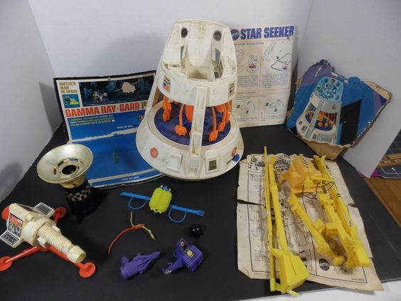 Major Matt Mason Space Parts Lot Star Seeker Gamma Ray W Instructions