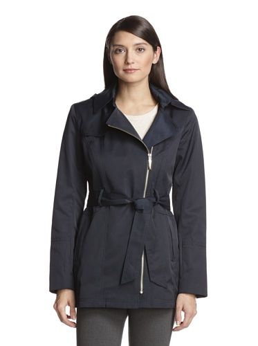Vince Camuto Women's Zip-Up Trench Coat (Navy)