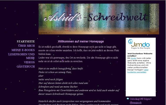 Dies ist die neue Schreibwelt Homepage. Hier dreht sich alles um meine e-Books