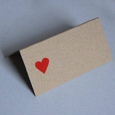 Recycling-Tischkarte, Anke Thomas: rotes Herz, Klappkärtchen zum Aufstellen: Amazon.de: Bürobedarf & Schreibwaren: amazon, 0,37€ + 4,90€ (Versand)