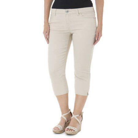 Jordache Women's Plus-Size 23 inch Skinny Capris, Size: 22W, Red ...