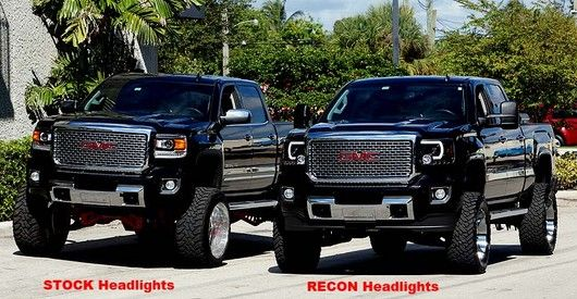 Recon Part 264295bkc Smoked Projector Headlights Gmc Sierra