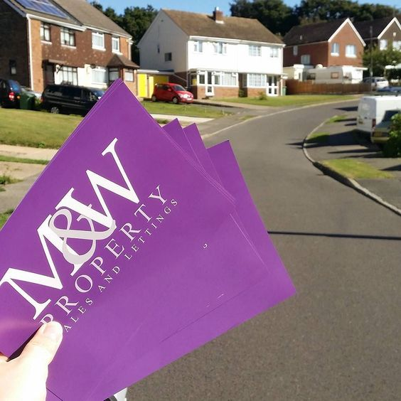 M&W sales and lettings was part of our distribution today! We can print and distribute your flyers for you. Pop on our website for more details http://ift.tt/1SeOgXg