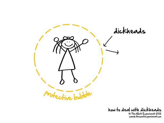 How to deal with dickheads - illustration from just one of our fabulous players