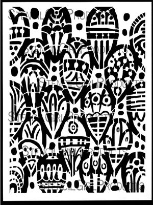 Click here to purchase the Tribal Leaves Stencil by Kae Pea for StencilGirl Products. $14.00